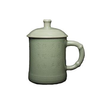 弘宝汝窑 粉青釉 中国梦茶杯 原产地汝瓷 匠心设计 礼盒包装