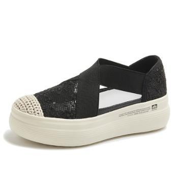 上匠风华 蕾丝款时尚品位单鞋X819