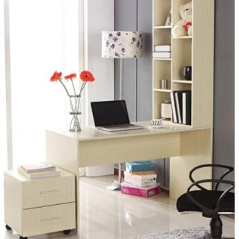 台式电脑桌简易电脑台 简易书桌 办公桌组合 电脑桌书柜三件套