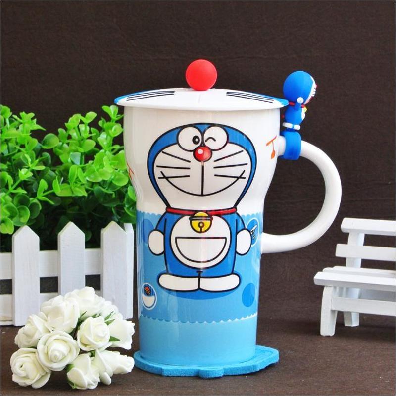哆啦a梦小叮当大头杯 创意陶瓷马克杯
