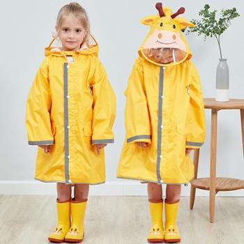立体儿童雨衣男女童学生宝宝雨披大帽檐小孩带安全反光条