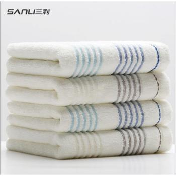 三利加厚全棉柔软吸水毛巾 家用洗脸毛巾 单条装
