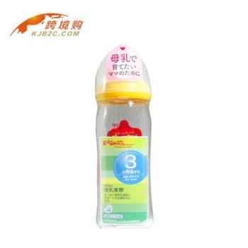 日本贝亲(Pigeon)母乳实感宽口奶瓶240ml(黄色)