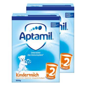 【2件装】德国爱他美(Aptamil)婴幼儿奶粉2+段(适合2岁以上)600克(新老包装随机发送)