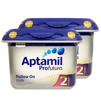 英国爱他美Aptamil白金版婴儿奶粉2段800G两罐