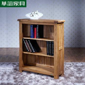 华谊家具 英式乡村简约纯实木橡木三层小书架