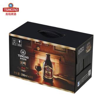 青岛啤酒枣味黑啤酒296ml*8瓶整箱装
