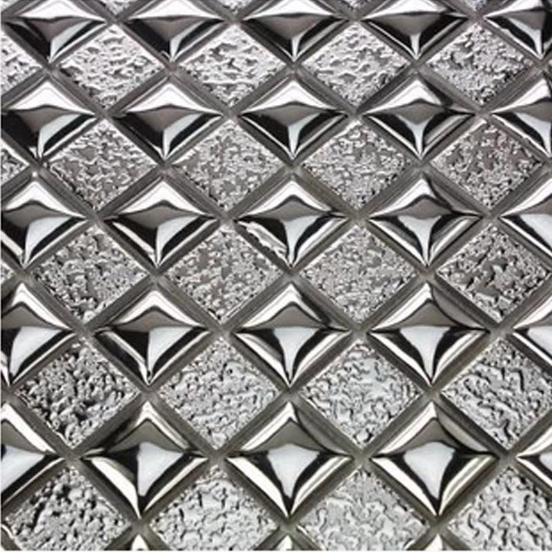 陶瓷马赛克瓷砖 电镀马赛克背景墙贴纸 金银色陶瓷墙砖