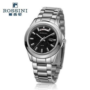 罗西尼ROSSINI手表双历不锈钢时尚石英男表5393W01L/5393W04M两色可选