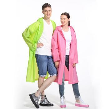 英玛仕EVA雨衣成人徒步户外雨衣加大帽檐