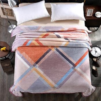 圣艾璐妮超柔加厚毛毯精品拉舍尔双人毯