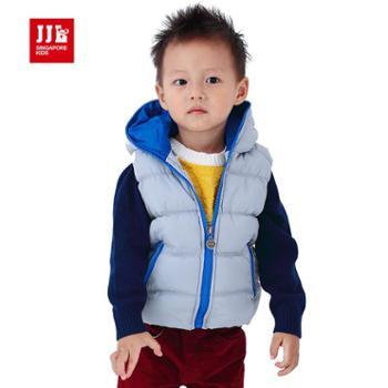 季季乐童装婴童新品 纯色时尚休闲款婴童马甲PDA4011