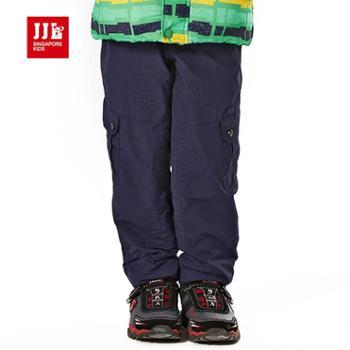 季季乐童装 宽松舒适保暖加厚男童冲锋裤 BDK51005
