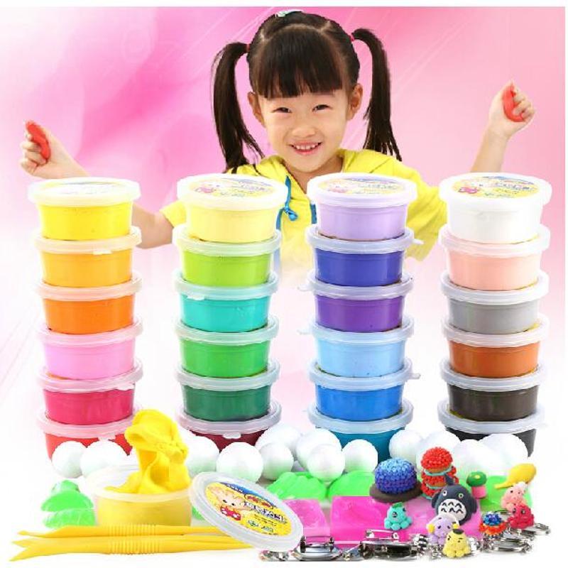 美阳阳超轻粘土24色橡皮泥彩泥3d套装儿童无毒正品太空泥黏土玩具