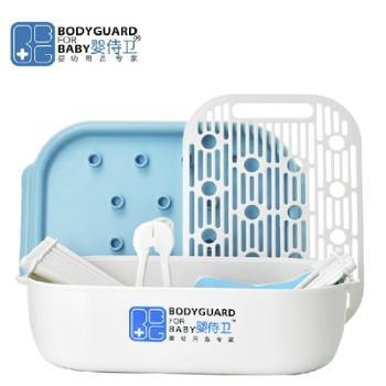 婴侍卫 奶瓶架奶瓶干燥架婴儿收纳箱收纳盒套装 奶瓶储存盒 F902