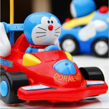 儿童玩具电动耐摔耐撞哆啦a梦遥控车带音乐小孩卡通车模男孩宝宝