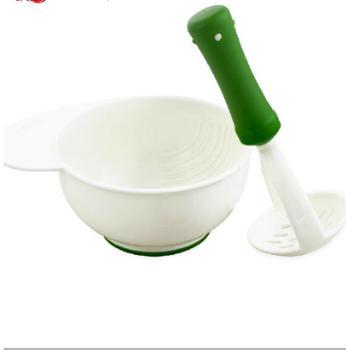 米苏塔研磨碗宝宝辅食研磨器食物碾磨碗婴儿辅食工具研磨器碾磨碗