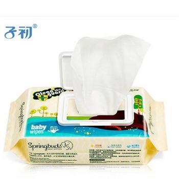 子初宝宝湿巾婴儿润肤柔湿巾手口湿巾纸新生儿bb湿纸巾80抽*4包(共320抽)带盖
