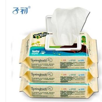 子初 婴儿湿巾 新生儿湿纸巾宝宝湿巾手口专用婴儿柔纸巾80抽带盖