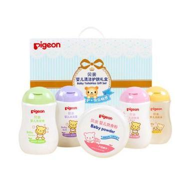 贝亲洗护套装婴儿沐浴露洗发水5件新生儿宝宝沐浴清洁护肤品礼盒