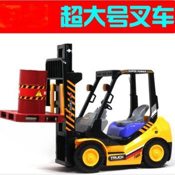 超大号1:10叉车无线遥控带充电工程车儿童电动玩具铲车起重机