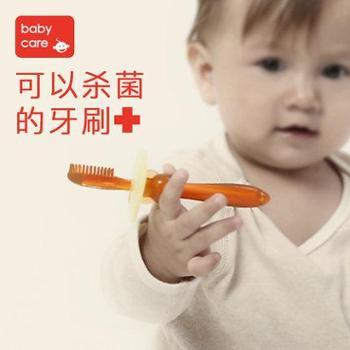 Babycare纳米银婴儿牙胶宝宝1-2-3岁硅胶儿童训练软毛牙刷乳牙刷
