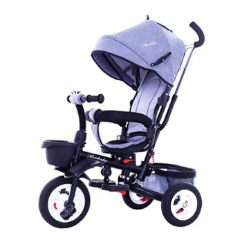 儿童车三轮车脚踏车遛娃5溜娃神器宝宝婴儿手推自行车子折叠1-3岁