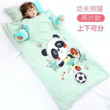 婴儿睡袋儿童春秋冬季加厚冬款幼儿小孩被子宝宝中大童防踢被神器