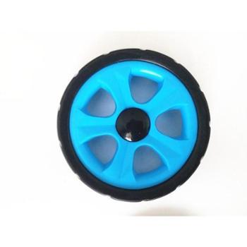 小孩手推车轮子婴儿童轻便折叠简易伞车配件通用夏季静音橡胶轱辘