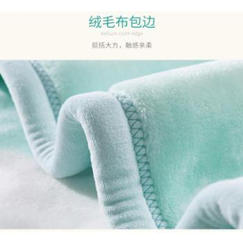可优比婴儿毛毯宝宝空调毯幼儿园盖毯新生儿小毛毯云毯四季通用厚