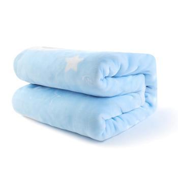 gb好孩子四季款婴儿毛毯礼盒新生儿盖毯宝宝云毯幼儿园卡通小毯子 一件套