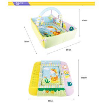 伊诗比蒂 婴儿童宝宝丛林爬行垫摇篮健身架游戏垫毯爬爬垫毯玩具 一个装