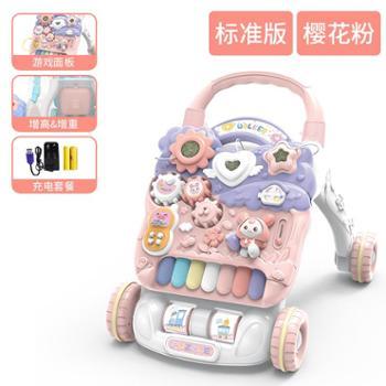 婴儿学步车手推宝宝儿童学走路助步车6-18个月防侧翻男女孩玩具车