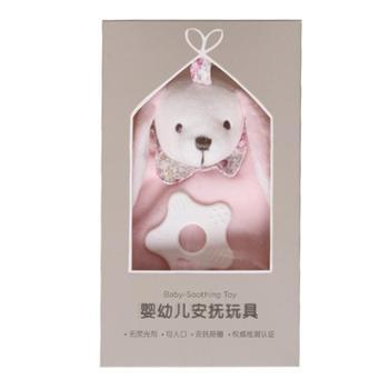 法国麦侬贝儿婴儿安抚巾可入口啃咬毛巾宝宝玩偶毛绒安抚玩具标签