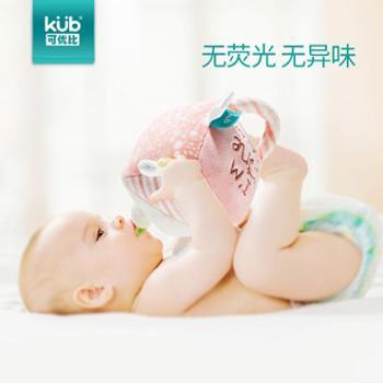 可优比毛绒摇铃球婴儿玩具0-1岁宝宝手摇铃6-12个月安抚幼儿玩具