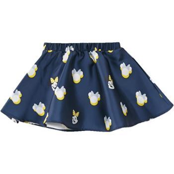 moomoo童装女童半身裙秋装迪士尼卡通洋气中大童儿童梭织短裙子