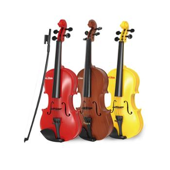 宝丽小提琴玩具可弹奏儿童礼物宝宝音乐乐器女孩男孩3-6岁初学者