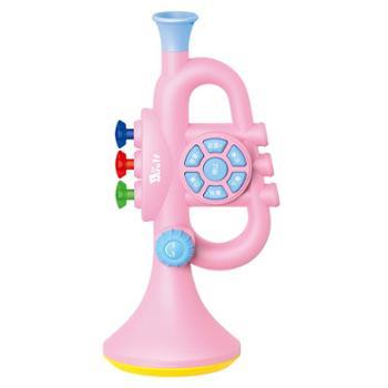 BAOLI儿童吹奏玩具乐器 宝宝可以吹的音乐玩具唢呐可吹小号小喇叭