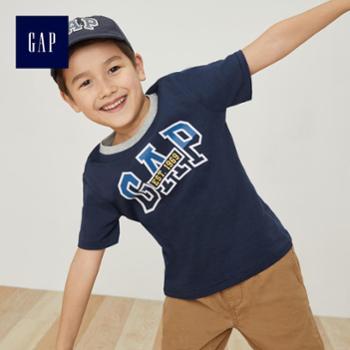 Gap男童纯棉短袖T恤打底衫399052中大童柔软圆领童装儿童内搭上衣