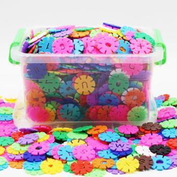雪花片益智塑料拼插积木幼儿园男女孩宝宝1-2儿童玩具3-6周岁