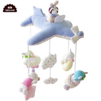 婴儿玩具毛绒布艺床铃音乐旋转新生儿床挂床头铃宝宝摇铃八音盒