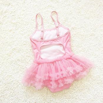 艾晴 儿童游泳衣女童宝宝泳装幼儿小孩公主裙式可爱1-2-3岁连体演出服