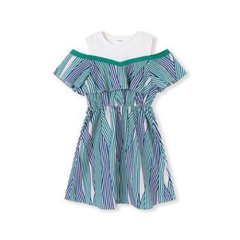 巴拉巴拉童装女童连衣裙夏装新款儿童公主裙中大童露肩裙子女