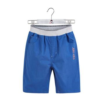 abckids童装男童休闲裤夏季中小童薄款时尚透气短裤儿童五分裤子