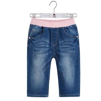 abckids童装女童短裤女孩夏款五分裤儿童牛仔裤女韩版女裤休闲裤