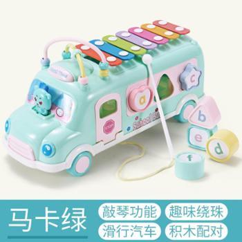 育儿宝婴儿童玩具益智力绕珠串珠积木男孩女宝宝早教