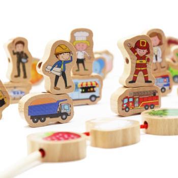 Piosoo儿童绕珠男孩女宝宝早教益智串珠子穿线绳子大号积木玩具