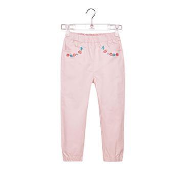 abckids童装女童运动裤秋季休闲裤子长裤修身儿童运动长裤学生