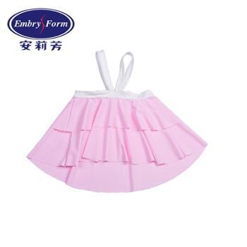 安莉芳 女童公主蛋糕裙式分体泳衣儿童温泉泳装2件套EK0926