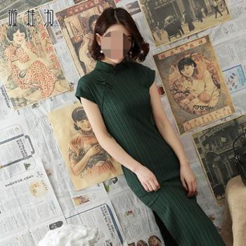 璇桂淑老上海改良旗袍连衣裙日常新款春夏款修身中国风优雅